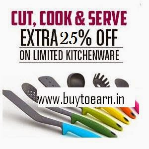 Pepperfry: Buy Kitchenware at upto 60% + 25% + 5%  off with Recomendations
