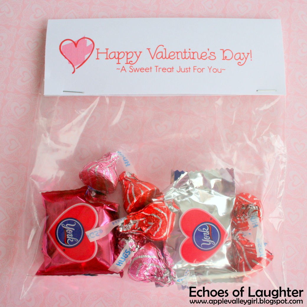 how to make valentine treat bag toppers free printable - Valentine Treat Bag Ideas