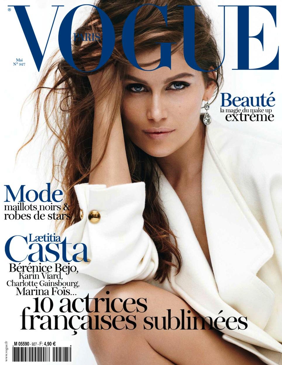Vogue Paris May 2012: Laetitia Casta by Mario Testino