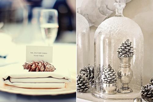 D co une table festive r cup 39 et nature louise - Decoration de pomme de pin pour noel ...