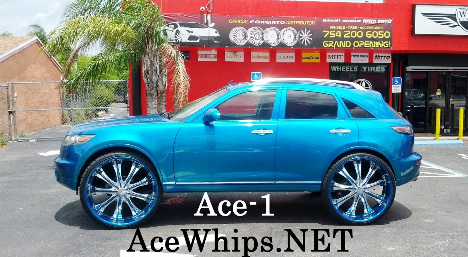 Ace 1 Candy Teal Infiniti Fx35 On 30 Quot Bentchis Lifted By