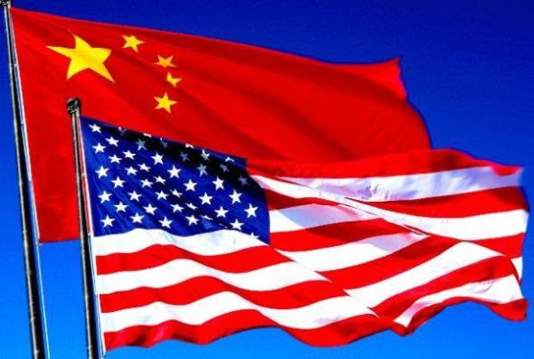 Bendera Amerika Serikat dan China