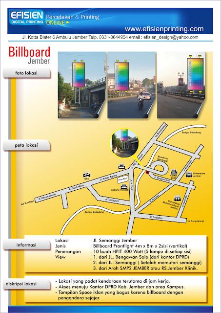 billboard 4m x 8m 2 muka jembatan semanggi jember hubungi