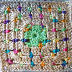 Block stitch rows, square
