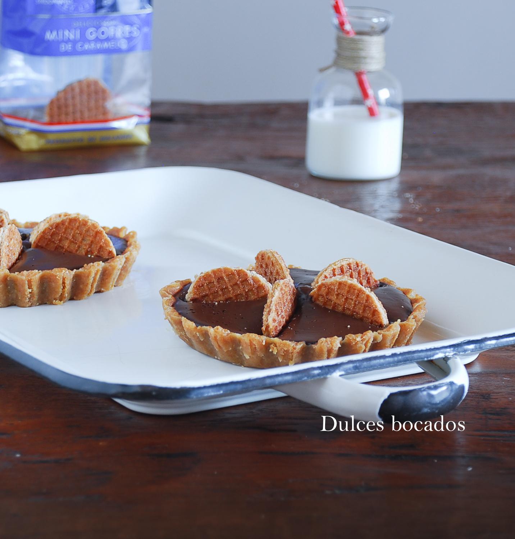 Tartaletas de chocolate con gofres - Dulces bocados