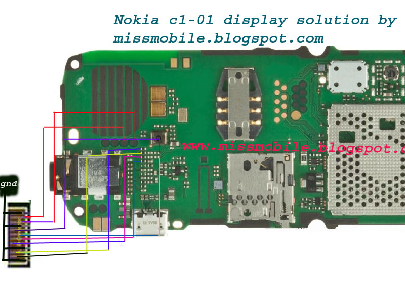 Nokia C1-01 White Display Solution