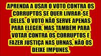 eleições voto contra corruptos
