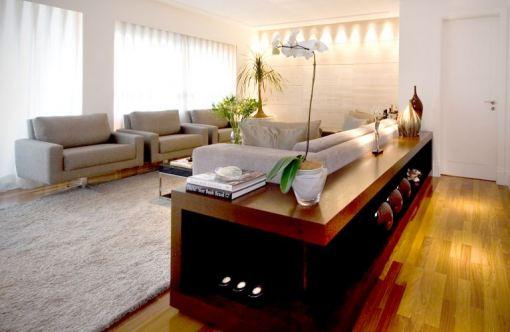 Aparador Quadrado Mdf Cru ~ Arte e Design Aparador atrás do sofá