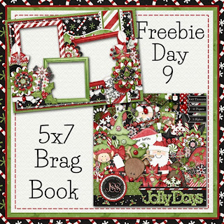 Jolly Days 5x7 Brag Book Day 9