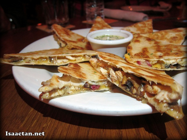 Alice Springs Chicken Quesadilla - Full - RM26.95, Half - RM 17.95