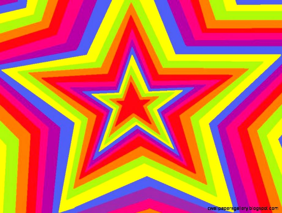 Hearts Stars Rainbow Wallpaper  Hd Wallpapers