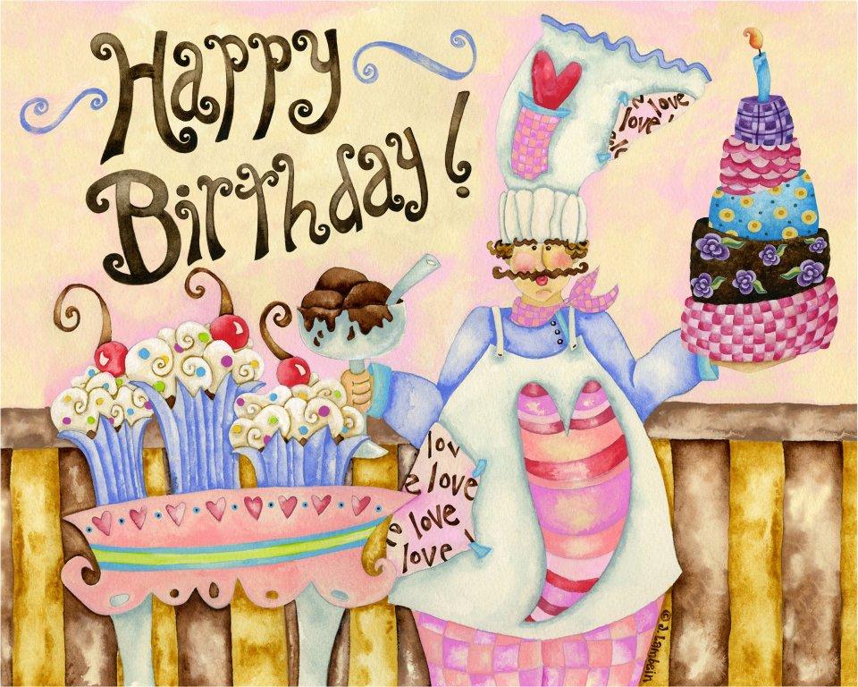 Поздравление с днем рождения женщин повару