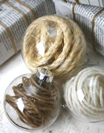 rope filled clear ball ornaments