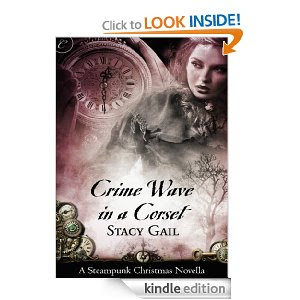 CRIME WAVE IN A CORSET-Sensual steampunk holiday romance published by Carina Press