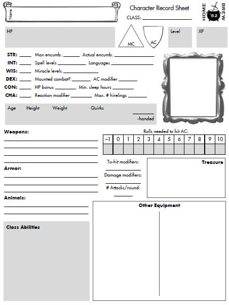 Servitor ludi homebrew 82 character sheet ccuart Image collections
