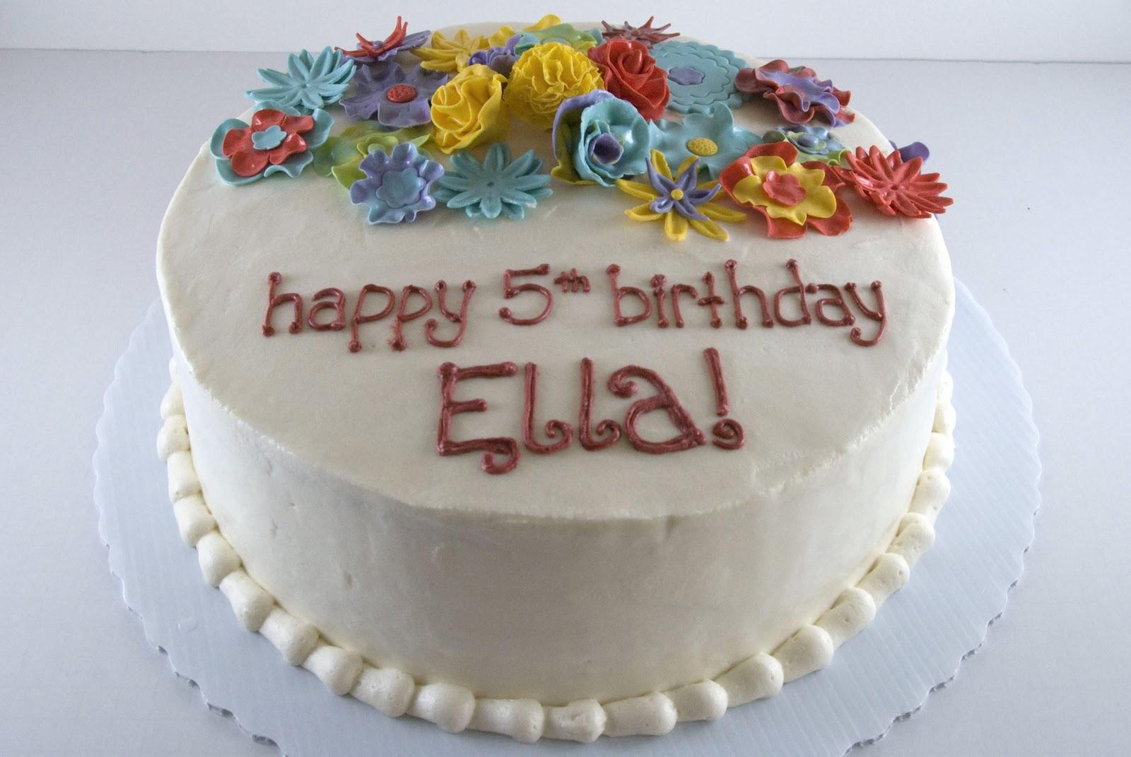 Night baking colorful flower garden birthday cake ellar0182g izmirmasajfo