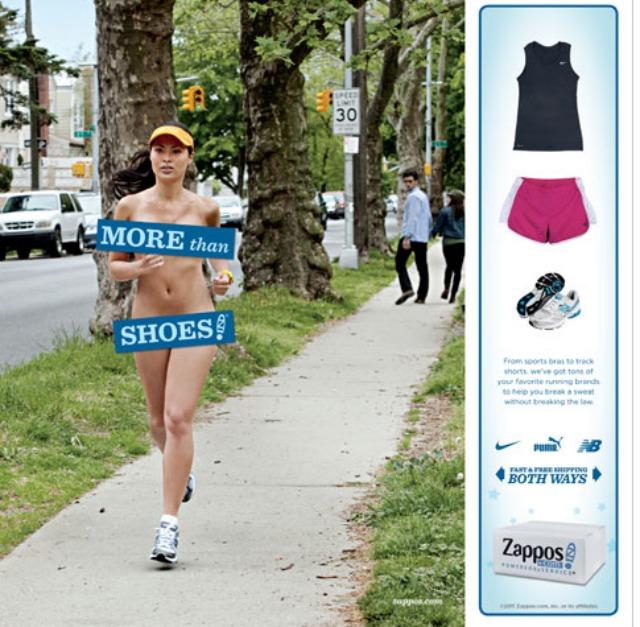 Zappos Nude Ad Campaign