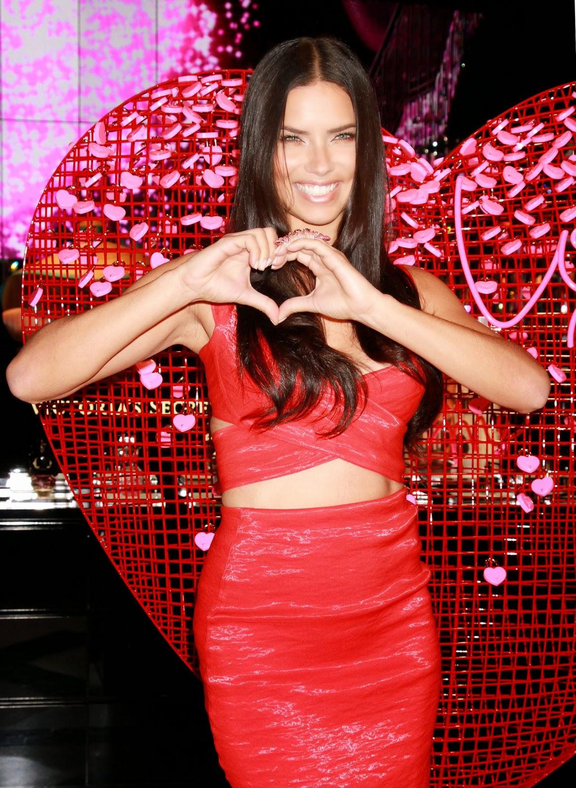 Adriana Lima at Victoria's Secret in Las Vegas, February 2015
