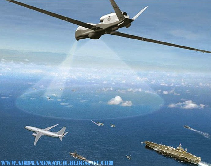 MQ-4C Triton Gigantic 737 Size Spy Plane US Navy Super Drone Unmanned Aircraft Military Surveillance