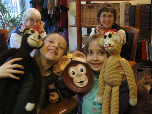 girls and monkeys