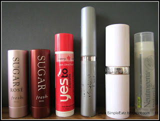 Lip Balm Collection (Sugar, Yes To Carrots, Carmex Moisture Plus, Elizabeth Arden 8 Hour Lip Protectant, Neutrogena Naturals)