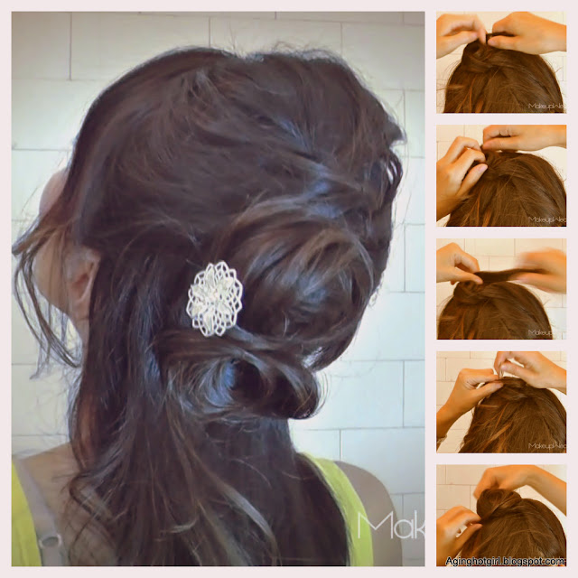 Long Half-up half down, worn down formal updo hairstyle angelina jolie inspired hair-dos