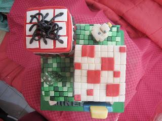 Minecraft Cake Figurines