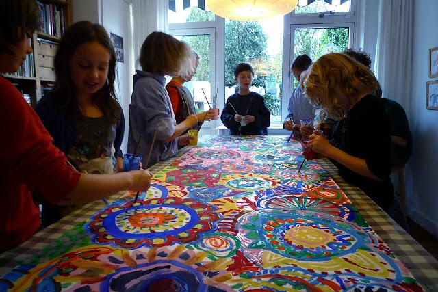 workshop circle painting