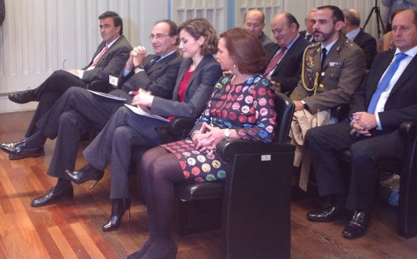 Queen Letizia Attended A Seminar At National Library