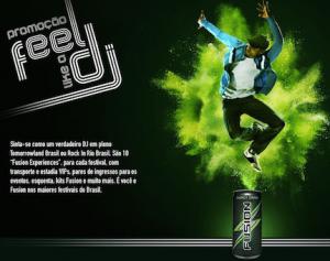 Promoção Fusion Energy Drink - Feel Like a Dj