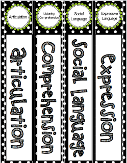 Speech2u binder labels