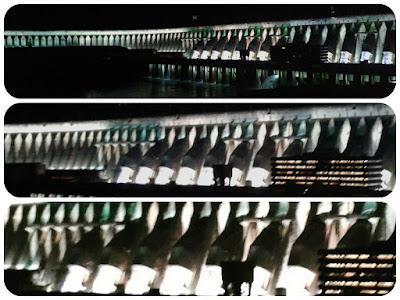 Iluminação da barragem da Usina Hidrelétrica de Itaipu