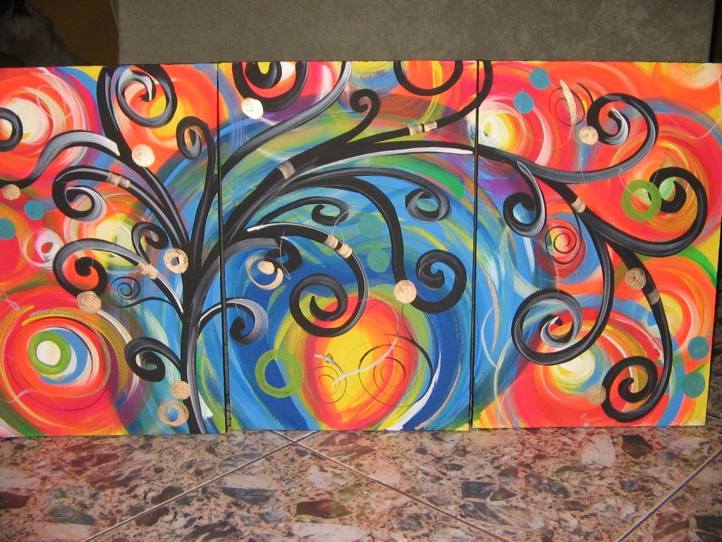 Clases grado once segundo periodo tecnicas artisticas - Pintura acrilica al agua ...