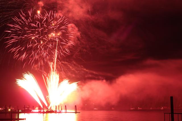 Hope marina fireworks