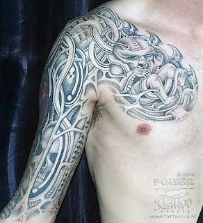 BioMechanical Tattoos Designs