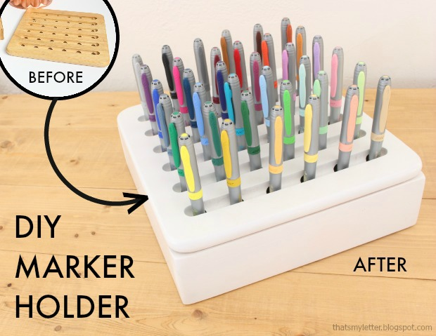 diy marker holder