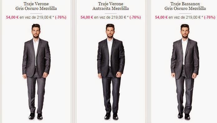 Ejemplos de trajes de la marca Torrente que puedes comprar muy baratos