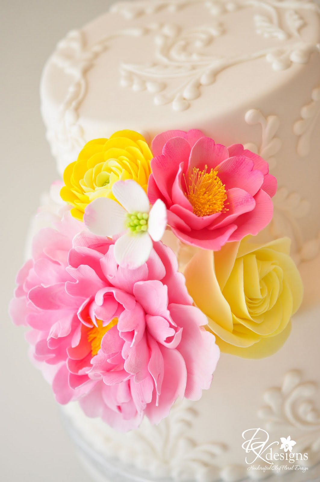 DK Designs: More Pink and Yellow Flowers...