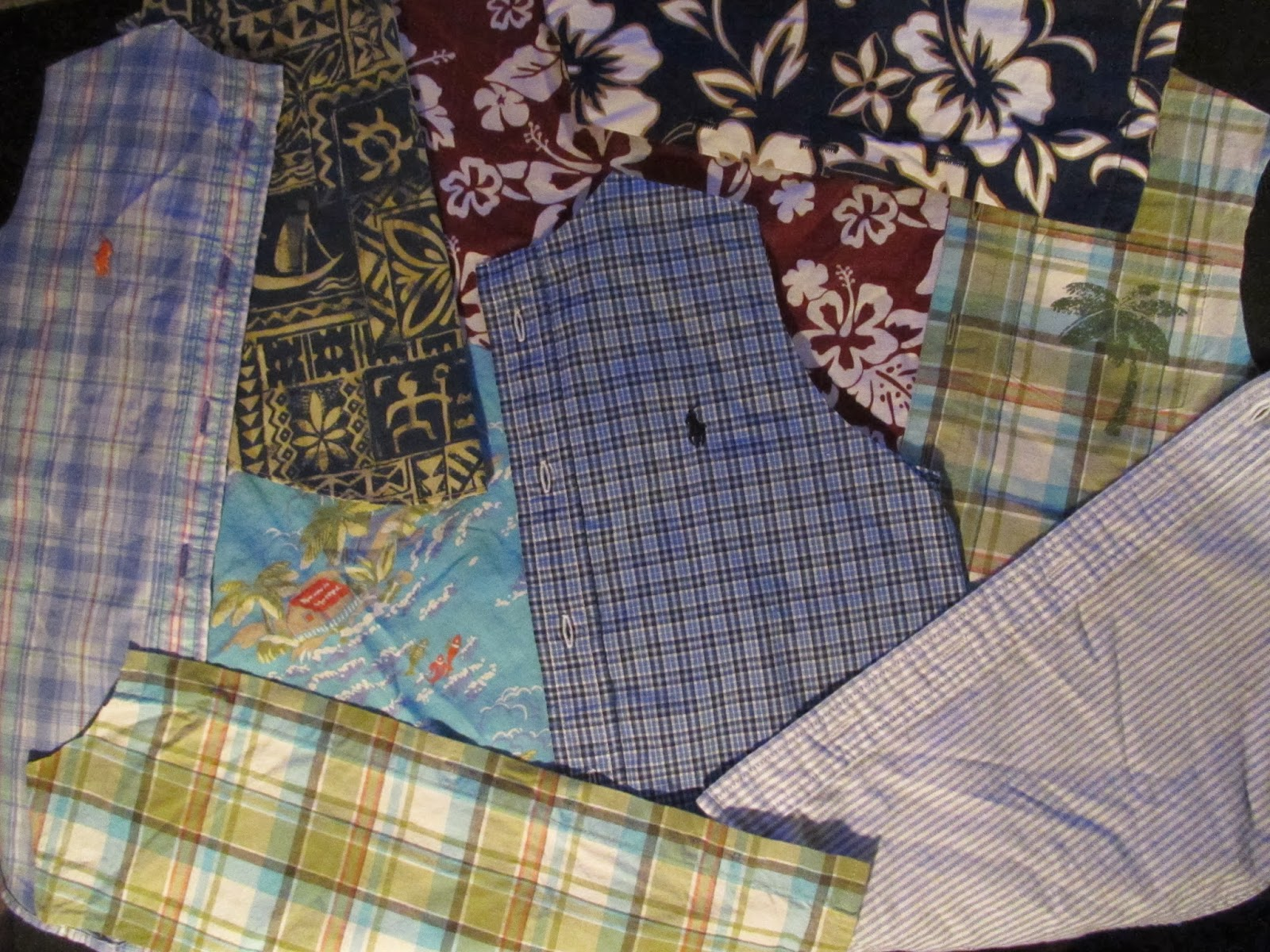 Thread, Fiber, Fabric, Paint: Recycled Clothes Quilt