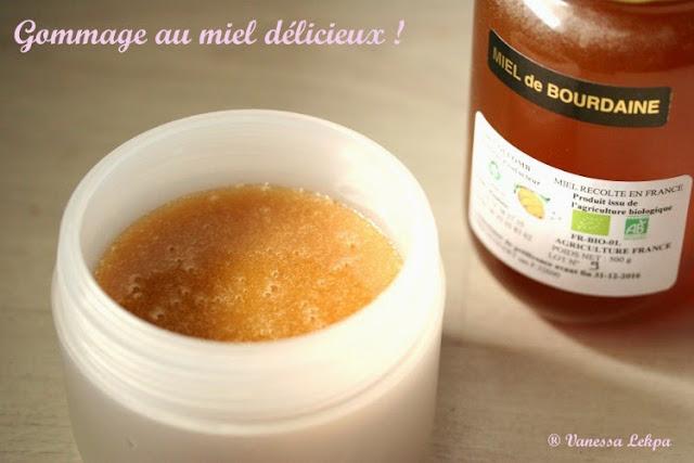 recette pour une peau toute douce au miel et au sucre