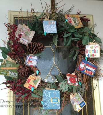 Dear Santa Tea Wreath by Lynn Shokoples for BoBunny