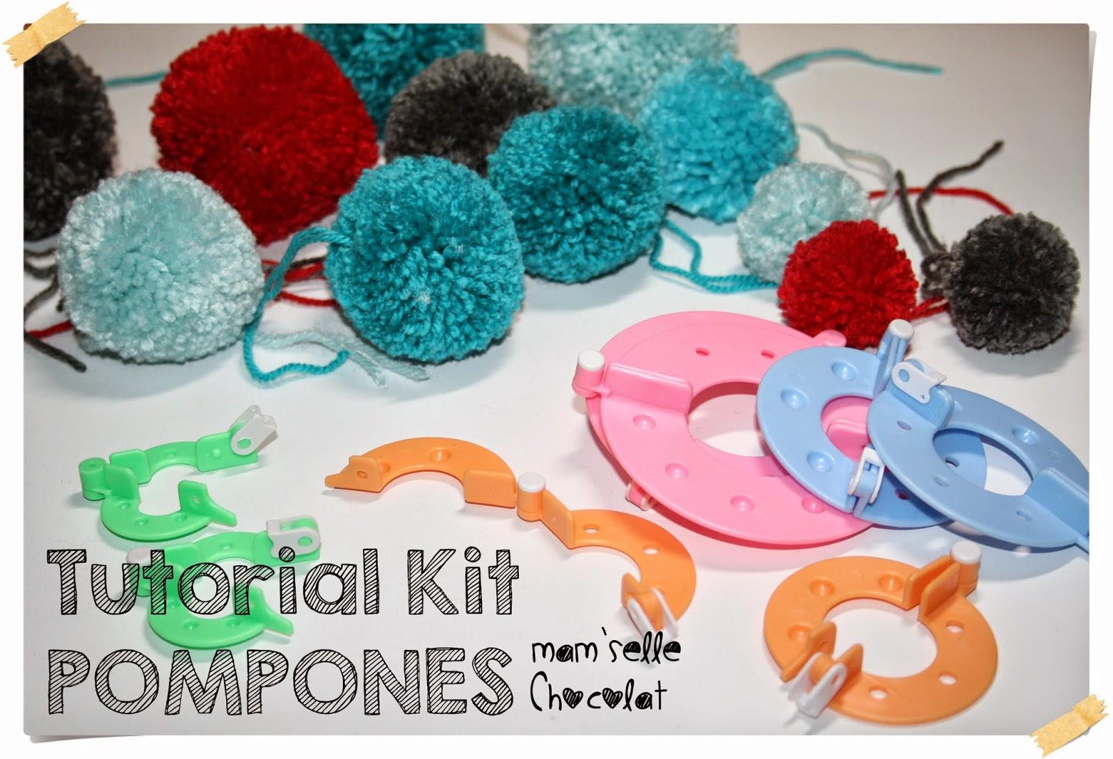 Hacer pompones de lana con un kit - Como hacer pompones de lana rapido ...