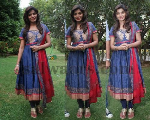 Sanchita Shetty Silk Anarkali Salwar