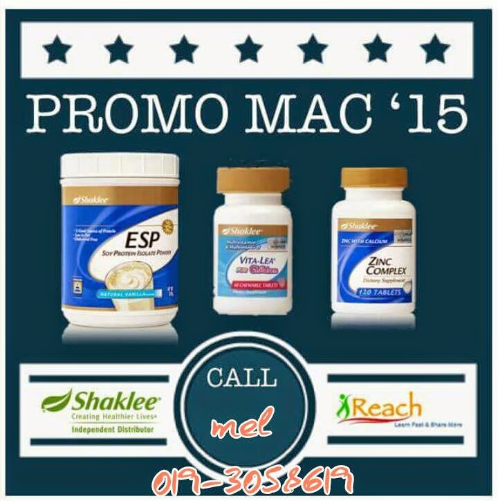 promosi shaklee march 2015