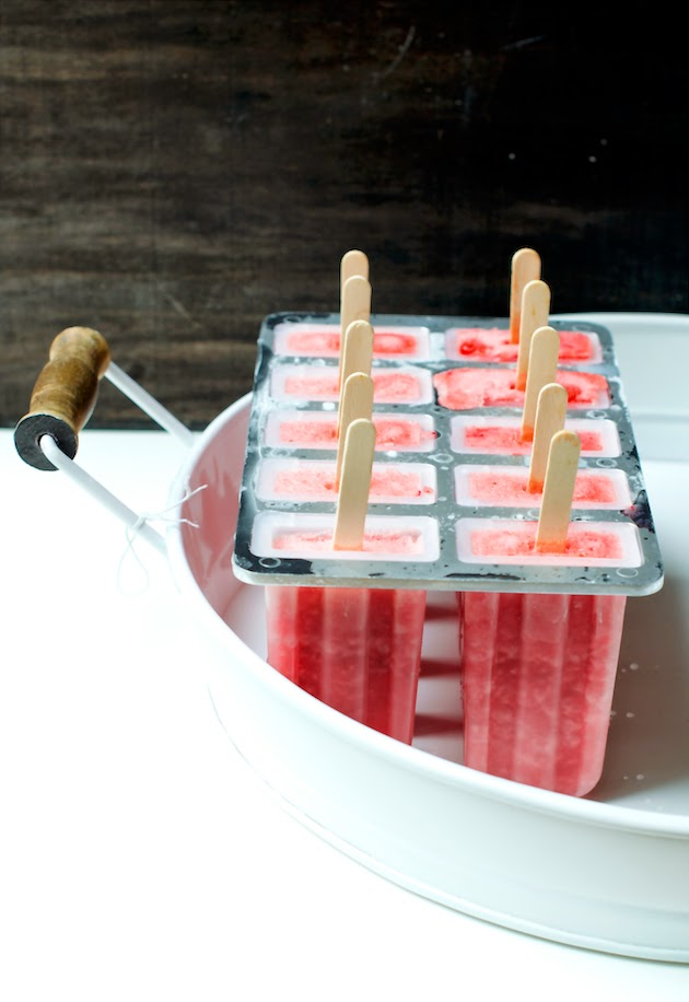Boozy or Virgin Frozen Strawberry Daiquiri Popsicles