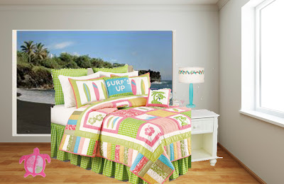 girls surfer style bedroom design