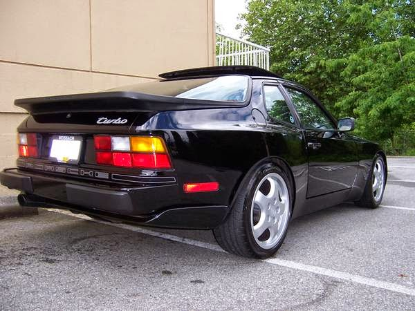 black 1986 porsche 944 turbo
