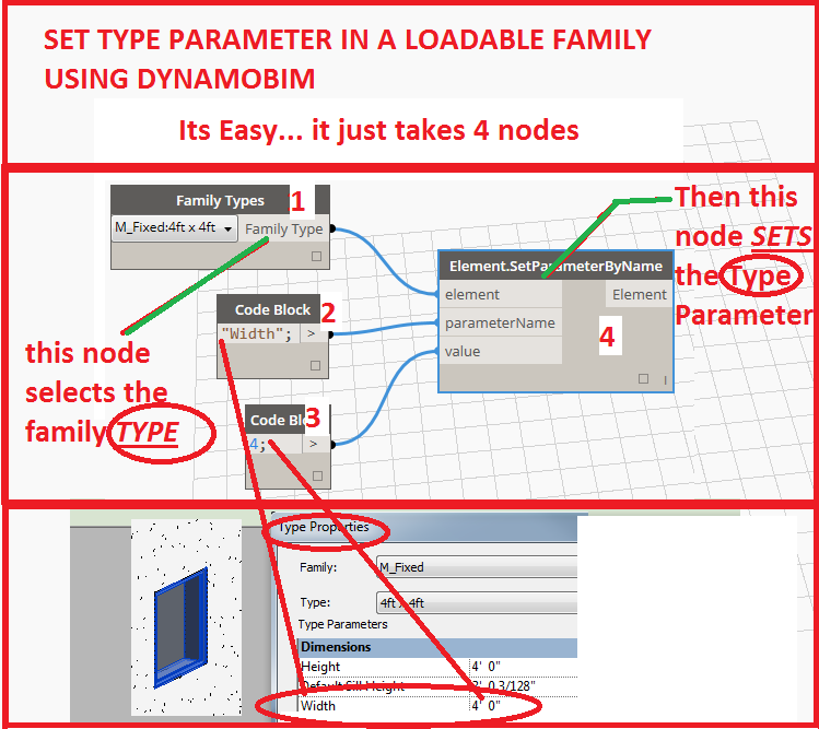 How to Set a Type parameter in a loadable family using DynamoBIM