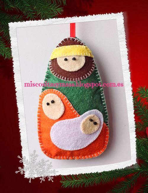 MisCositasYmas.•*•. : ☆Adornos de Navidad en fieltro☆