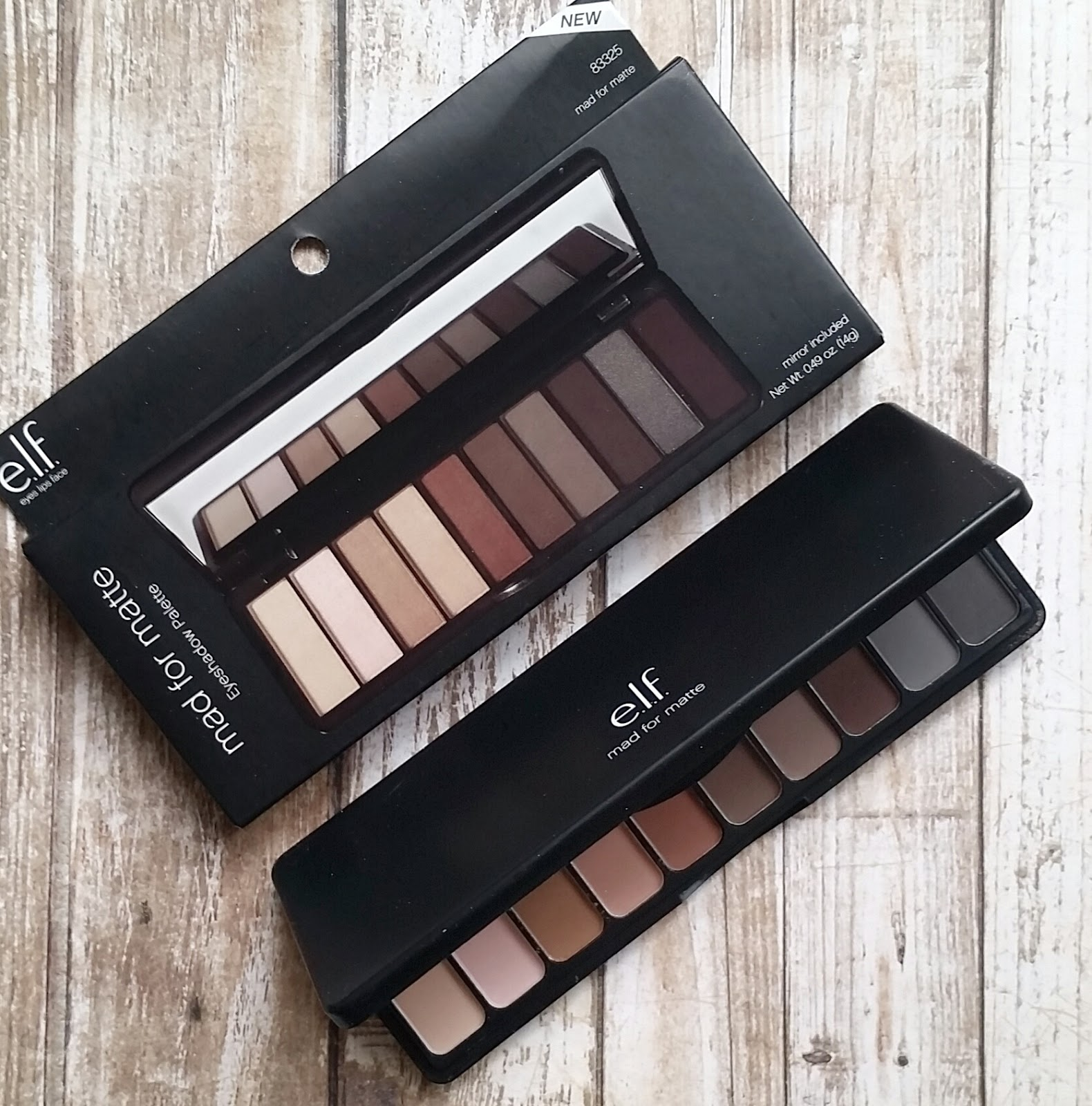 e.l.f. Mad For Matte Eyeshadow Palette Review